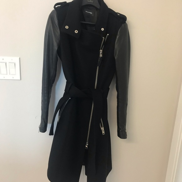 Mackage Jackets & Blazers - Mackage Leather Sleeve Jacket